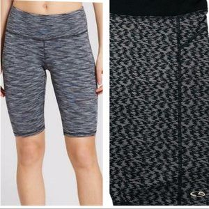 Champion Duo Dry gray black printed biker shorts